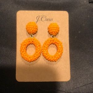 Jcrew orange beaded earrings